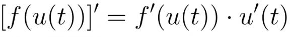 Regla de la cadena en la notación de Lagrange